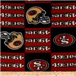 203159 NFL Fleece San Francisco Squares Black/Red