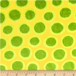 Minky Cuddle Fly Away Spot Dot Lime/Yellow