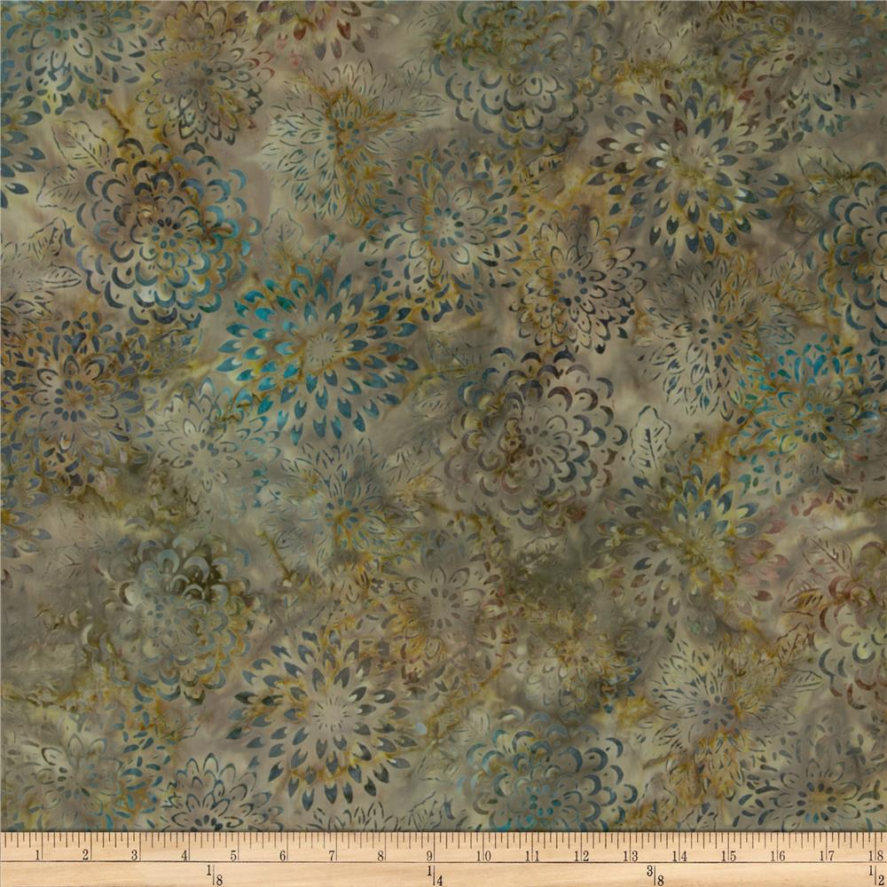 Artisan Batik Asian Legacy 3 Geo Flowers Meadow Green