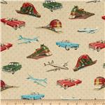0270455 Planes, Trains, Automobiles Tossed Transportation Cream
