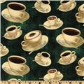 Coffee Break Coffee Cups Allover Green