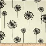0266154 Premier Prints Indoor/Outdoor Dandelion Ebony/Ivory