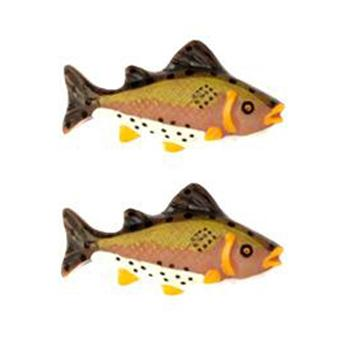 Novelty Button 1 1/2'' Rainbow Trout Multi