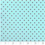 AQ-814 Pimatex Cotton  Dots Aqua &amp; Brown
