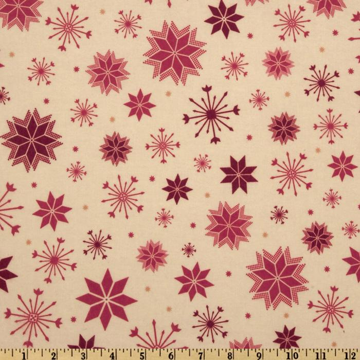 Nordica Flannel Snowflakes Antique