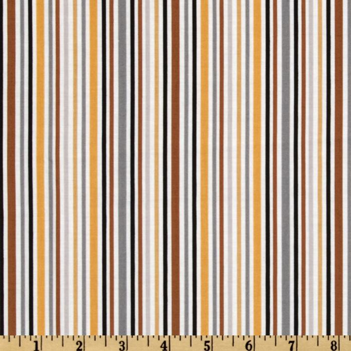 Riley Blake Zoofari Stripe Brown
