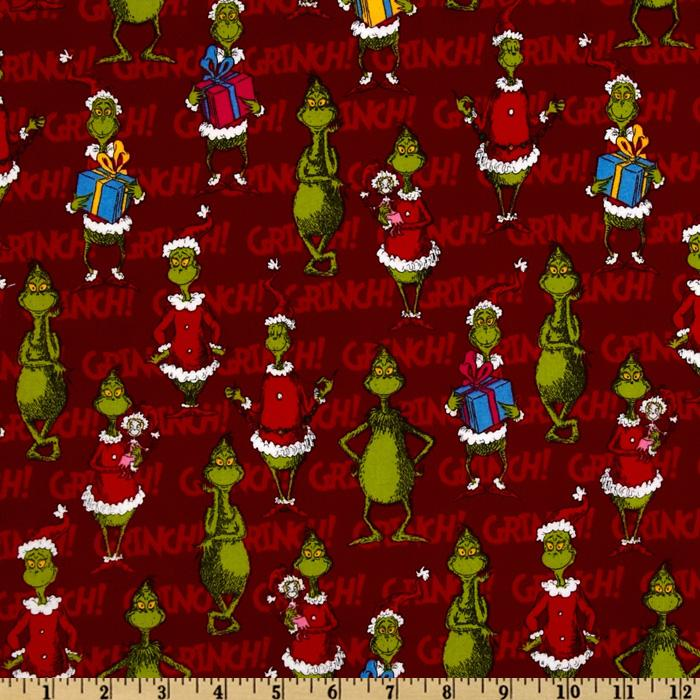 How The Grinch Stole Christmas Flannel Happy Grinch Celebration Red