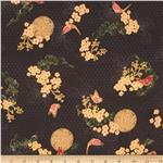 0275778 Asian Peony Metallic Ornamental Black