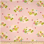 0277513 Owls on Branch Pink Multi