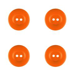 "Riley Blake Sew Together 1"" Matte Round Button Orange"