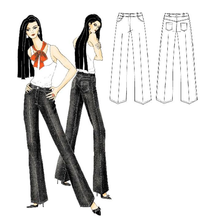 Hot Patterns Weekender Jean Jeanius Trouser Jeans Pattern