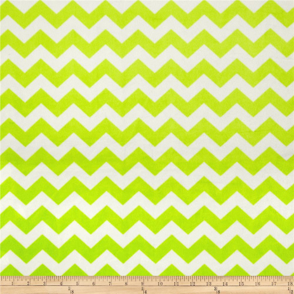 Riley Blake Dreamy Minky Medium Chevron Lime