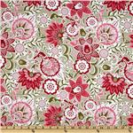 FR-399 Song Bird Large Floral Pink