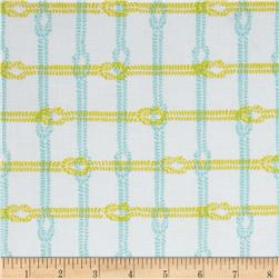 Riley Blake Maritime Modern Knotty Plaid Citron