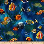 0289926 Island Sanctuary Sea Tropical Fish Cobalt