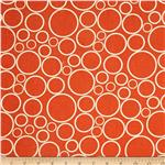 108&quot;  Wide Spot On Wide Quilt Backing Circles Tangerine