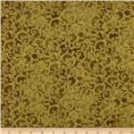 Esmeralda Metallic Scroll Olive