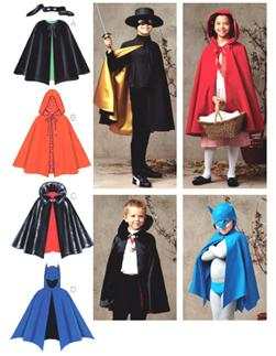 Kwik Sew Unisex Children's Capes Pattern