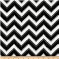 Modern Bliss Chevron Stripe & Dot Black