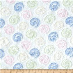 Double-Sided Minky Fleece Swirls White/Multi