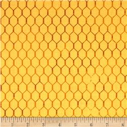 Bright and Early Chicken Wire Yellow