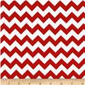 Riley Blake Cotton Jersey Knit Chevron Small Red