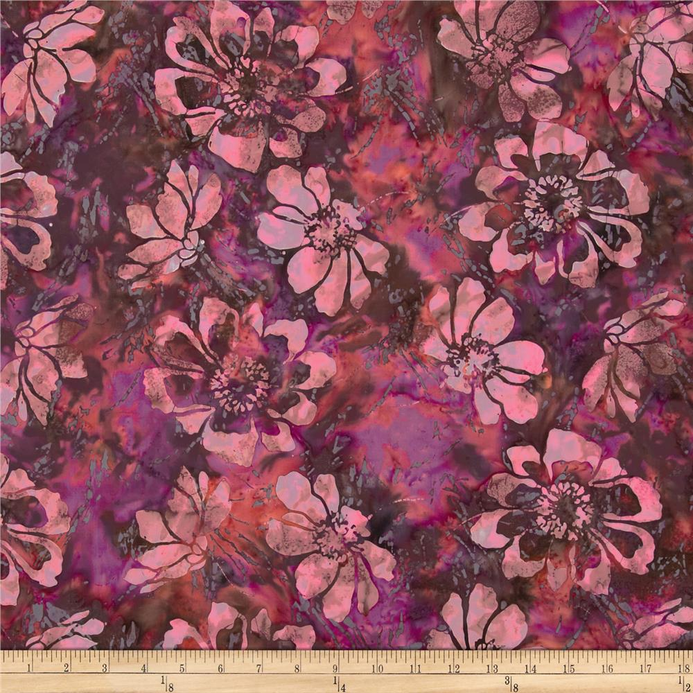Bali Batiks Flower Purple