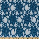 Xanna Floral Lace Fabric Cornflower Blue