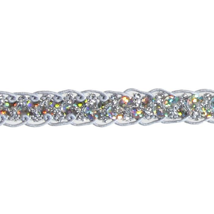 1/2&quot; Sequin Braid Cord Trim Silver