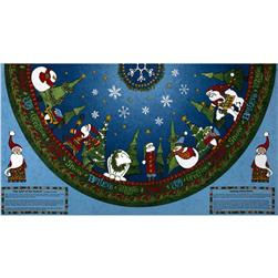 The Spirit of the Season Tree Skirt Panel Multi