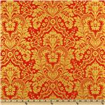 Gilt Trip Damask Metallic/Orange