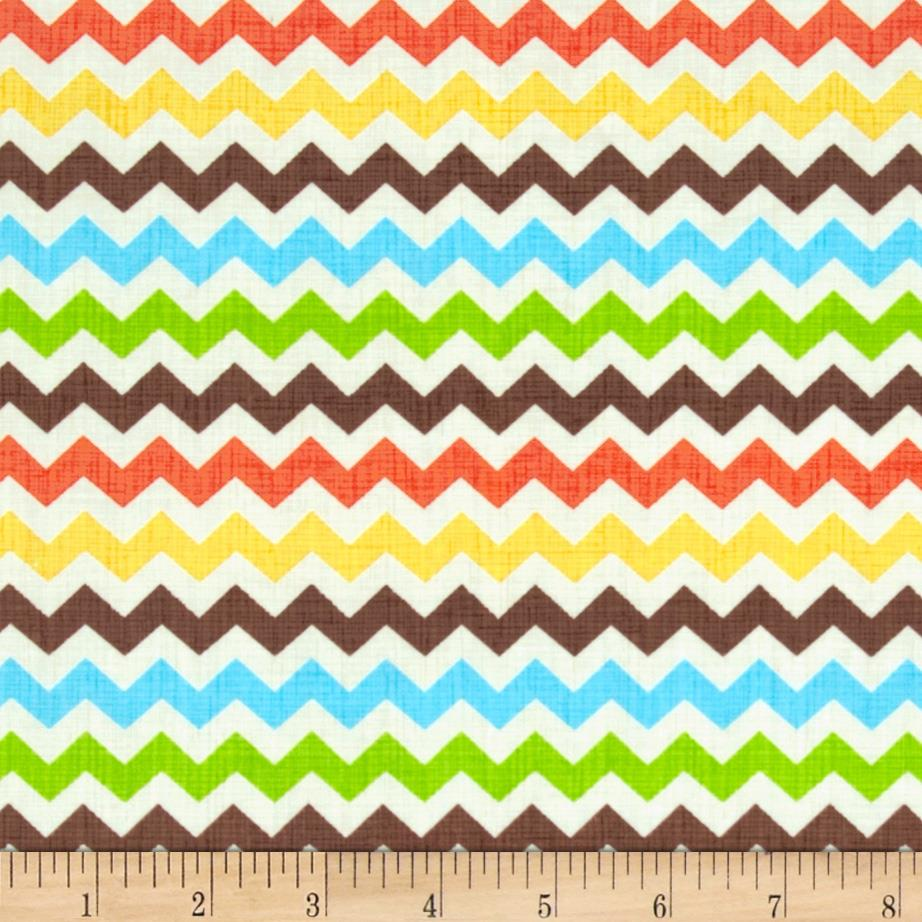 Timeless Treasures Ziggy Small Chevron Fiesta