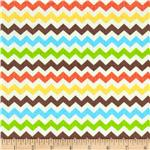 0283407 Timeless Treasures Ziggy Small Chevron Fiesta