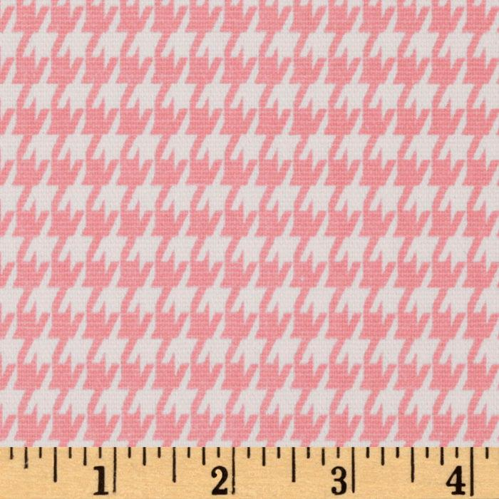 Premier Prints Houndstooth Baby Pink/White