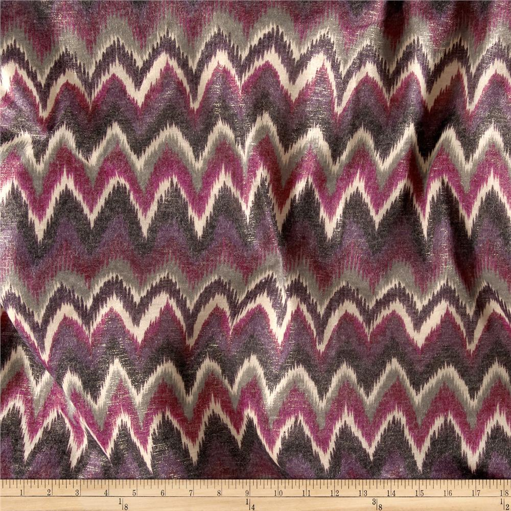 Addison Jersey Knit Chevron Purple
