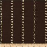 Embossed Metallic Jersey Knit Bubbles Brown