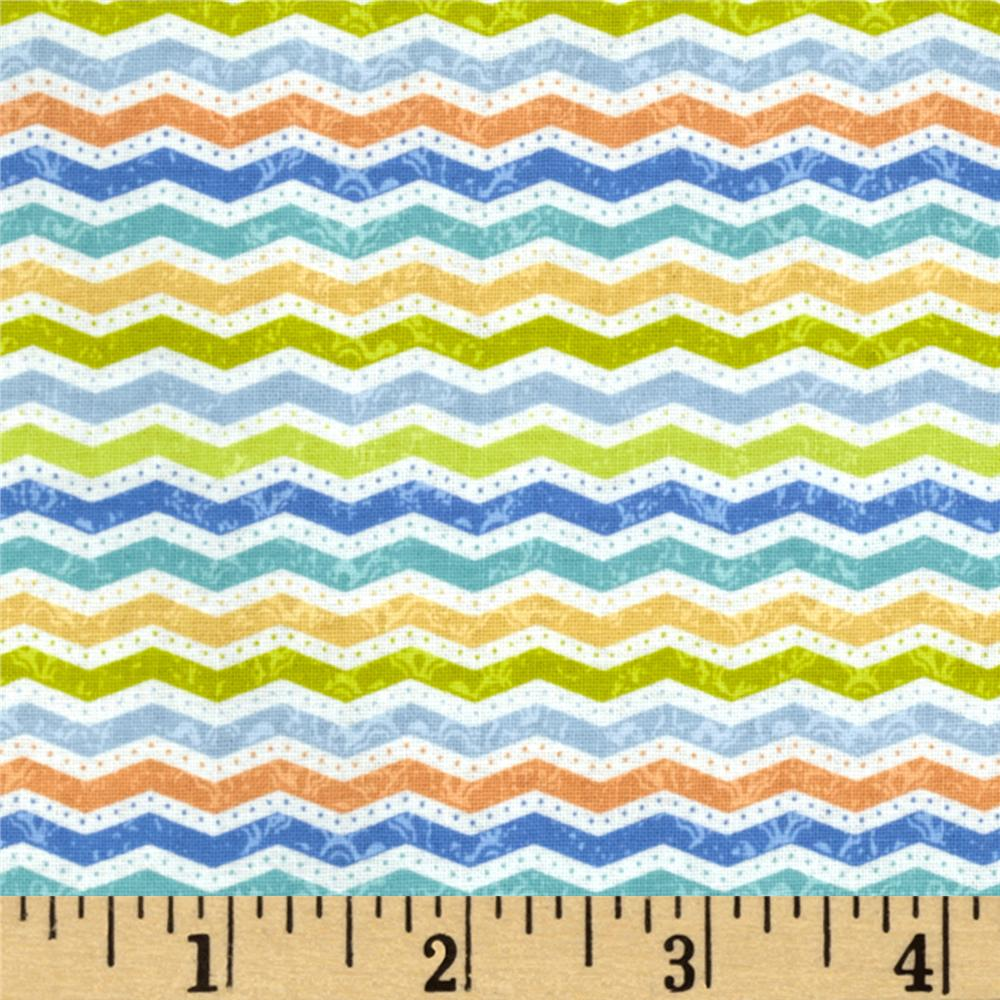 Little Monkey Chevron Light Blue