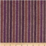Primo Plaids Flannel Yarn Dyed Herringbone Stripes Plum/Burgundy