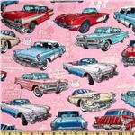 Get Your Kicks Classic Cars Pink