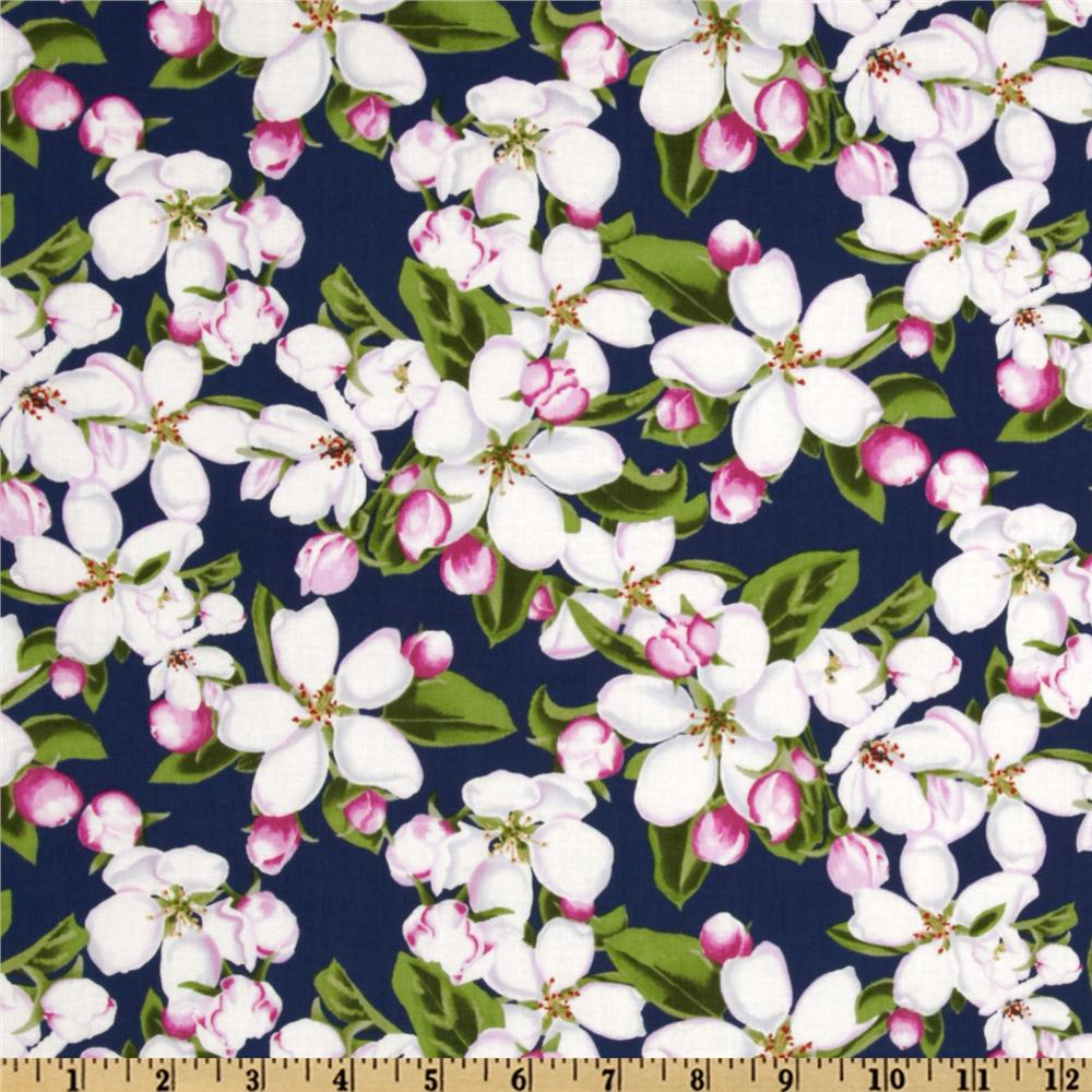 State Flowers Apple Blossom Navy