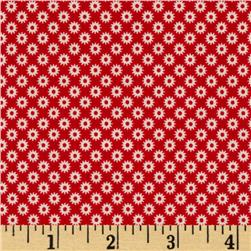 Riley Blake Sidewalks Starburst Red
