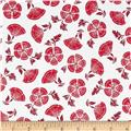 Medium Geometric Floral White/Red