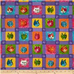 209874 Moda Prisma Cats Kitty Quilt Purple