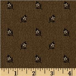 Civil War : Peace & Unity Spaced Small Flowers Brown