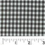 Woven 1/8 Gingham Black