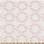 Moda Sew Stitchy Circle of Birds White/Carnation