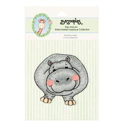 Iron-On Embroidered Applique Bazooples Humphrey Hippo