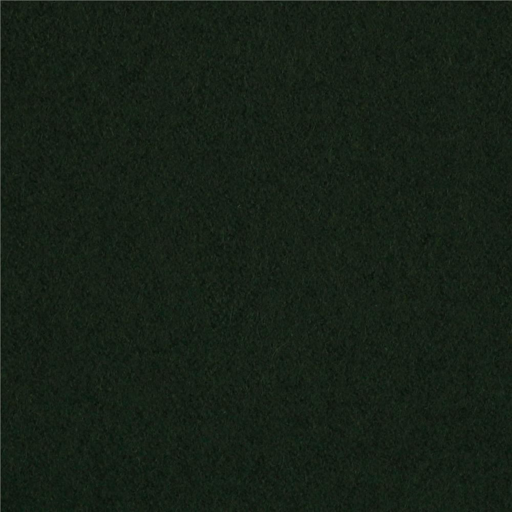 Wool Blend Melton Dark Green