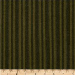 Moda Wool & Needle Flannel II Ticking Stripe Spruce