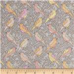 0269049 Victorian Modern Birds Violet